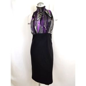 Alfani Size 14 High Neck Dress Sleeveless Midi